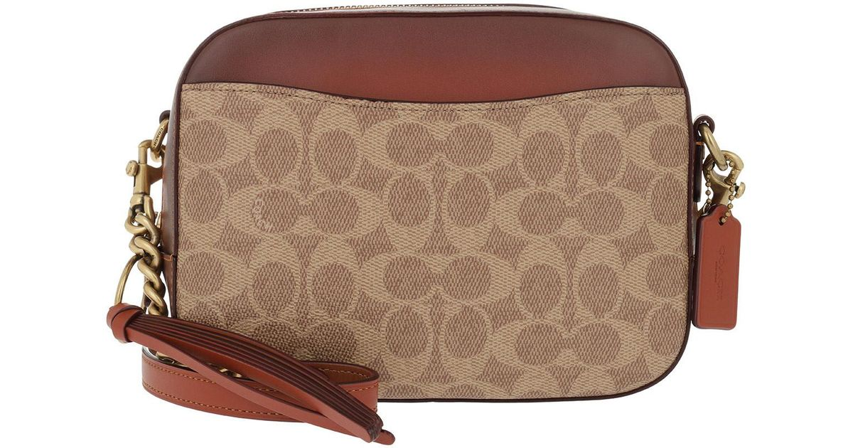 249802fb7b34 COACH Coated Canvas Signature Camera Bag Rust in Brown - Lyst