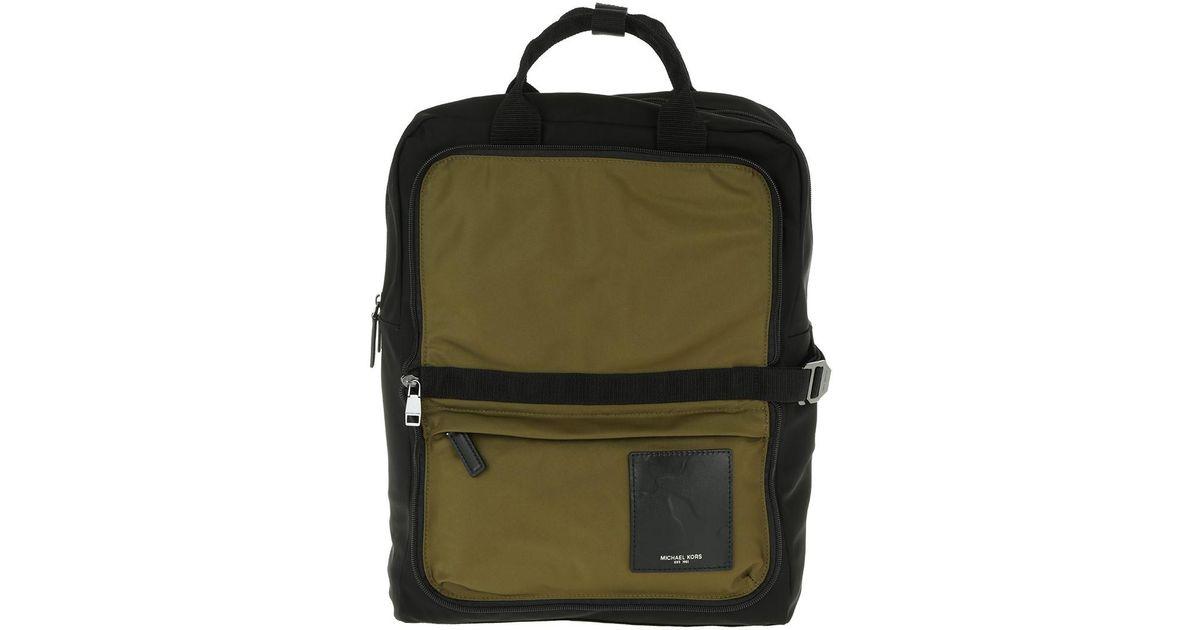 ccfc70becbae Michael Kors Kent Packable Cargo Backpack-tote Black/military in Black for  Men - Lyst