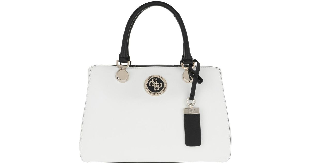 Guess Landon Girlfriend Satchel White Multi in White - Lyst 4a79e2b329781