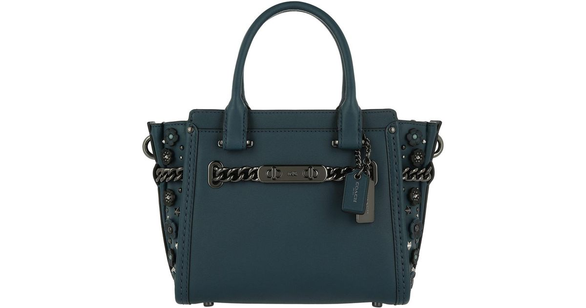 ab7daba84deb COACH Willow Floral Swagger 21 Tote Mineral in Blue - Lyst