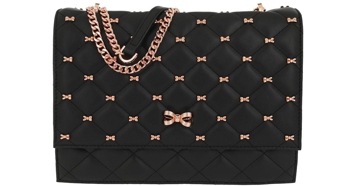 a0c983c0e584 Ted Baker Briiana Bow Quilted Shoulder Bag Black in Black - Lyst