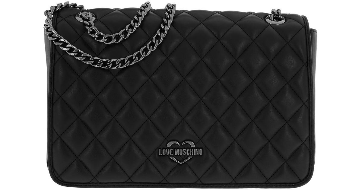 a7d881e69a Love Moschino Borsa Quilted Metallic Shoulder Bag Nero in Black - Lyst