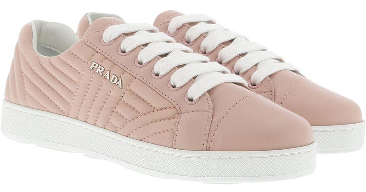 c6809ab7bea7cb Prada Sneakers Matelassé W Logo Leather Orchidea in Pink - Lyst