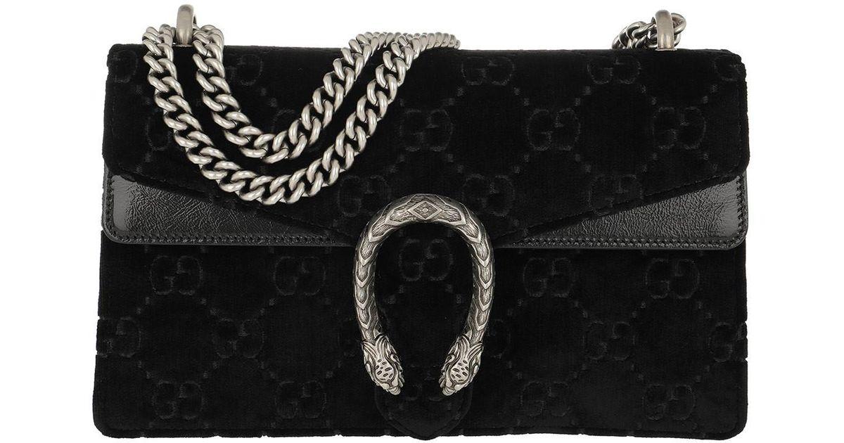 8a797257c32c Gucci Dionysus Skipper Shoulder Bag Velvet Black in Black - Save 22% - Lyst
