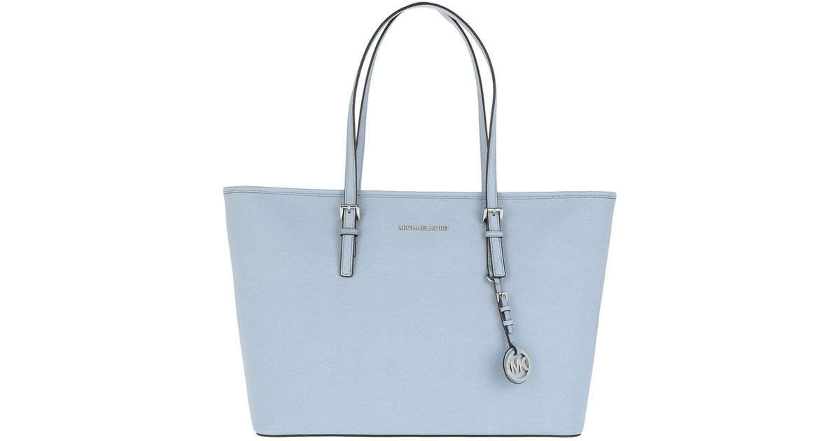 Michael Kors Jet Set Travel Md Tz Multifunction Tote Pale Blue in Blue -  Lyst 65e7f12dc8b63