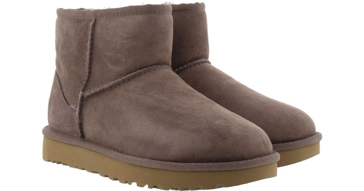 ugg w classic mini ii boot stormy grey in gray lyst rh lyst co uk