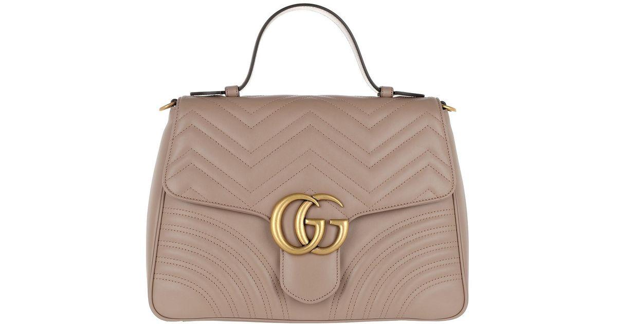 e5d6852f71b2 Gucci GG Marmont Medium Top Handle Bag Rose - Lyst