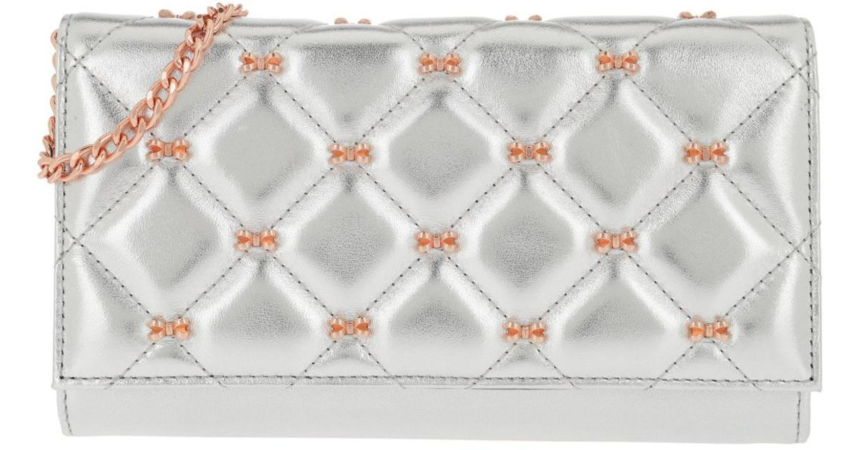 Ted Quilted Silver Lyst Matinee Metallic Bow Bag Cambre in Crossbody Baker FrwEFqf