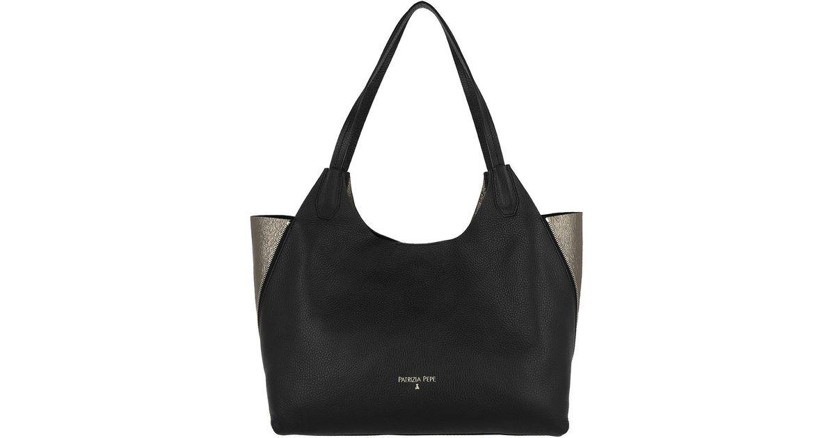 first rate afe8b 101f3 Patrizia Pepe - Black Shopping Bag Dark Silver/nero - Lyst