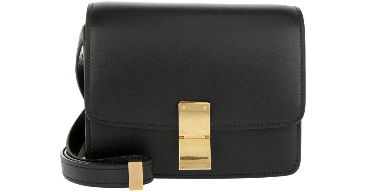 e2f56a0bd699 Céline Small Box Bag Calfskin Black in Black - Lyst