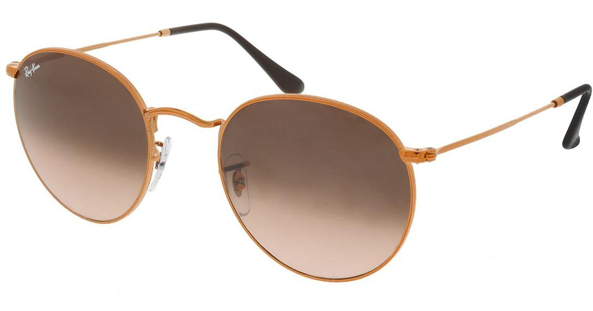 fbab252acd1 Ray-Ban Round Metal Rb 0rb3447 53 9001a5 in Brown - Lyst