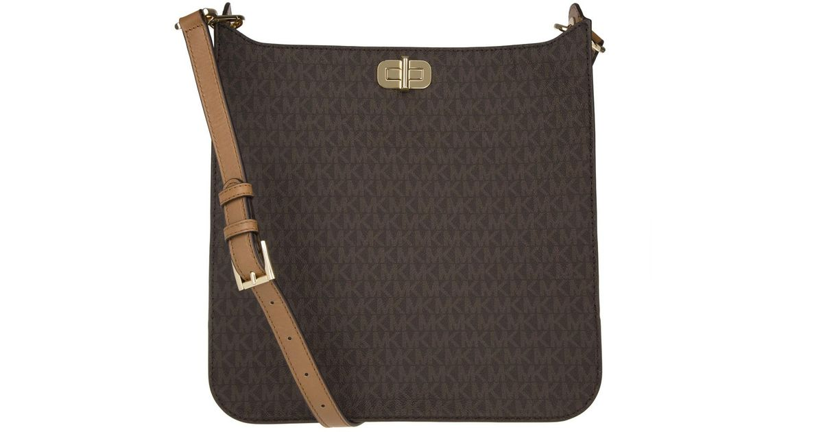 f415344e2fa Michael Kors Sullivan Lg Messenger Bag Brown in Brown - Lyst