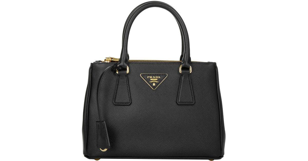 9f164e323068 Prada Galleria Tote Bag Saffiano Small Nero. in Black - Lyst