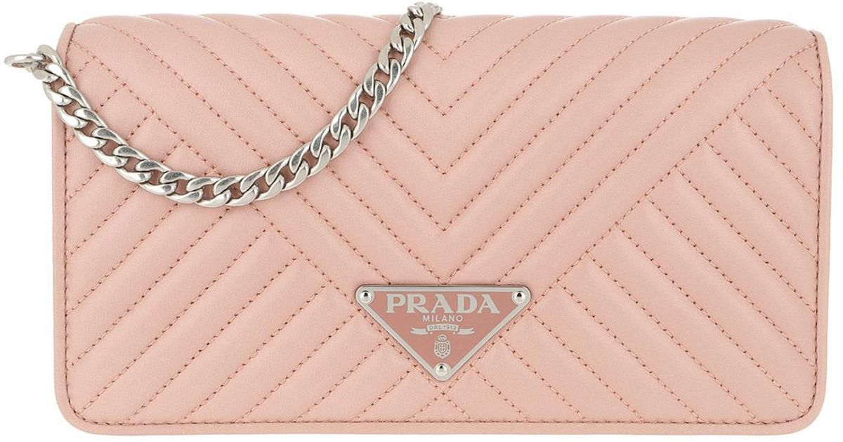 Prada Mini Crossbody Bag Quilted Leather Orchidea in Pink - Lyst 48f5727d88f53