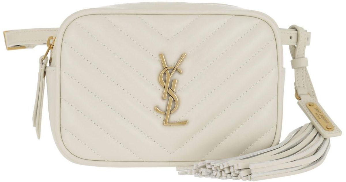 b016190e046 Saint Laurent Lou Belt Bag Quilted Leather Crema in White - Lyst