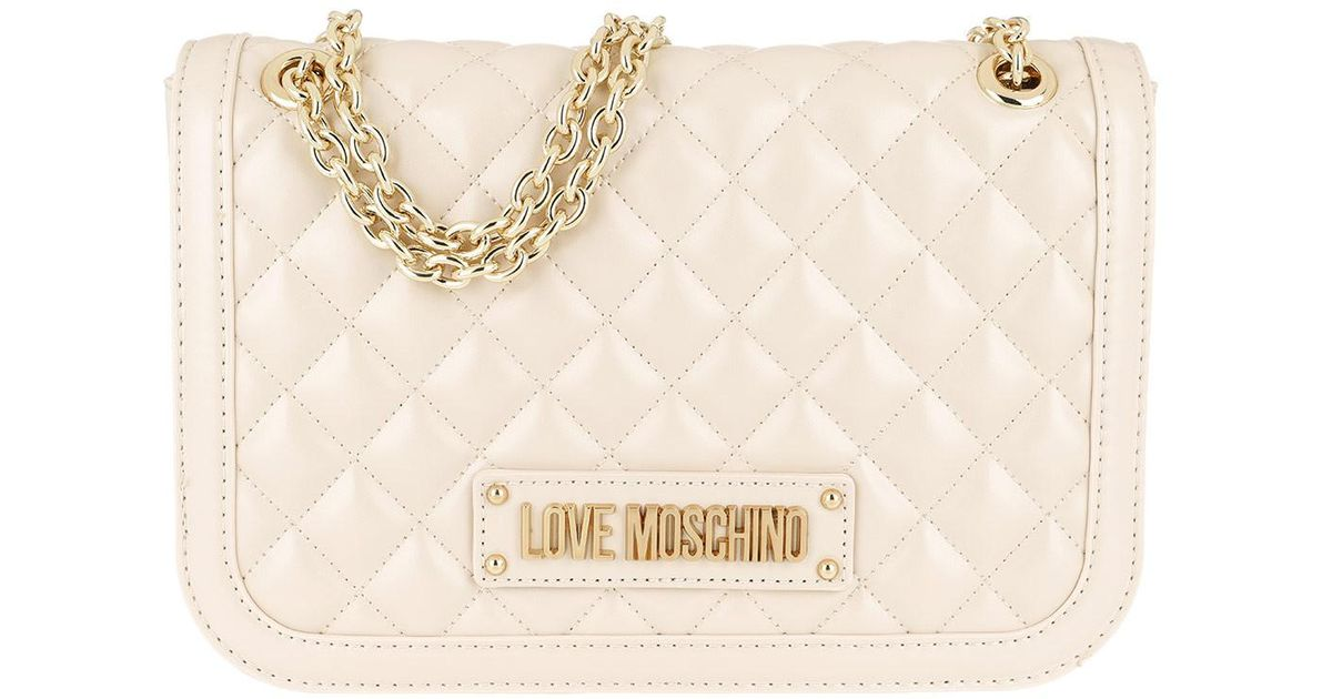 51342396de21a Love Moschino Quilted Nappa Pu Chain Crossbody Bag Avorio in Natural - Lyst