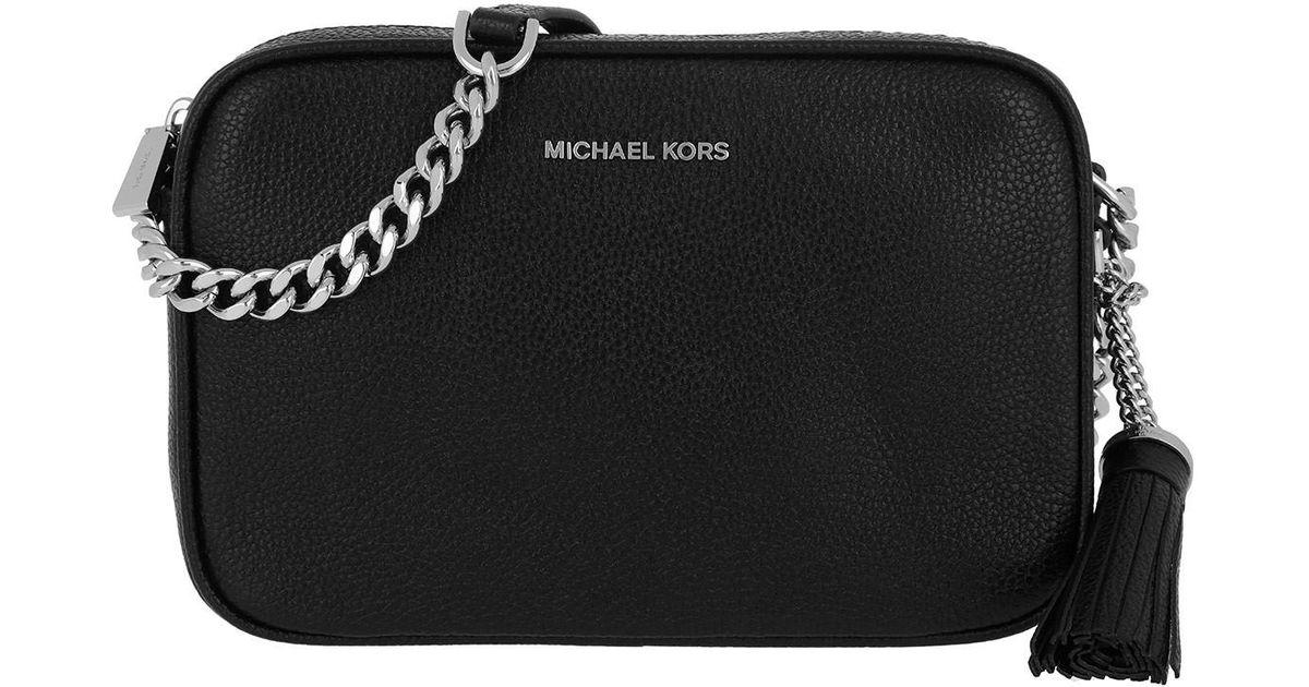 c36e72856725 Michael Kors Ginny Md Camera Crossbody Bag Black silver in Black - Lyst
