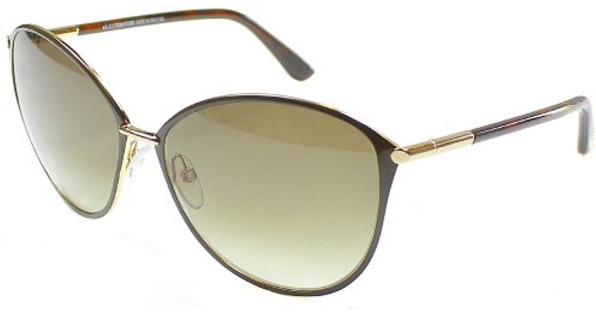 2c624cd96a4b4 Lyst - Tom Ford Tf 320 Penelope 28f Cat Eye Metal Sunglasses in Metallic