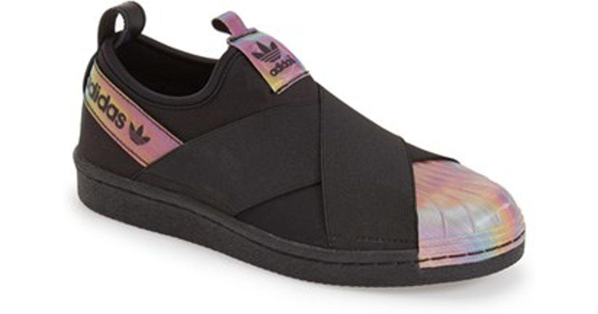 Lyst - adidas Superstar Rita Ora Slip-On Sneakers in Black 715dd74b780c