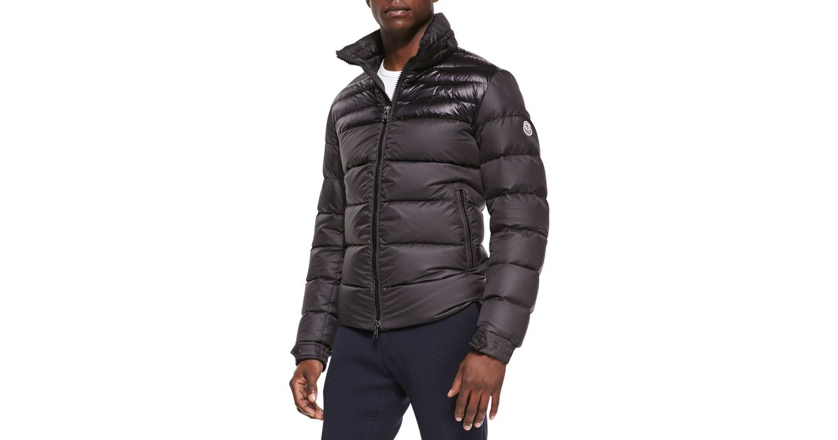 2e50ebcad Lyst - Moncler Dinant Matte Shiny Puffer Jacket in Black for Men