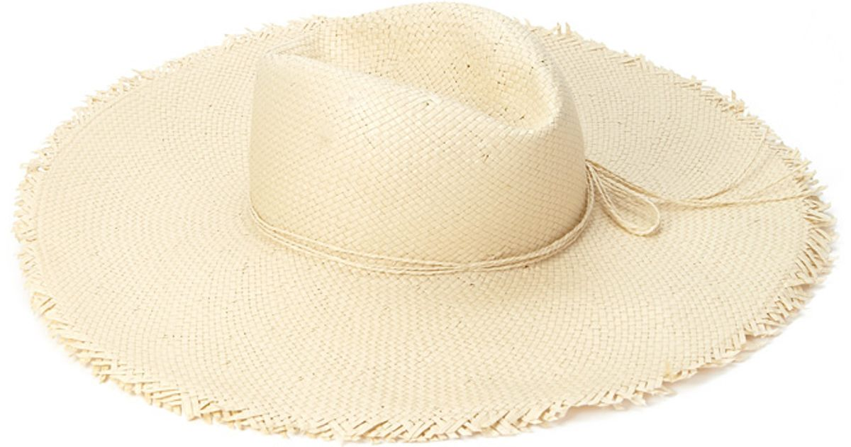Lyst - Forever 21 Frayed Straw Sun Hat in Natural 59dd0e7ef7cc