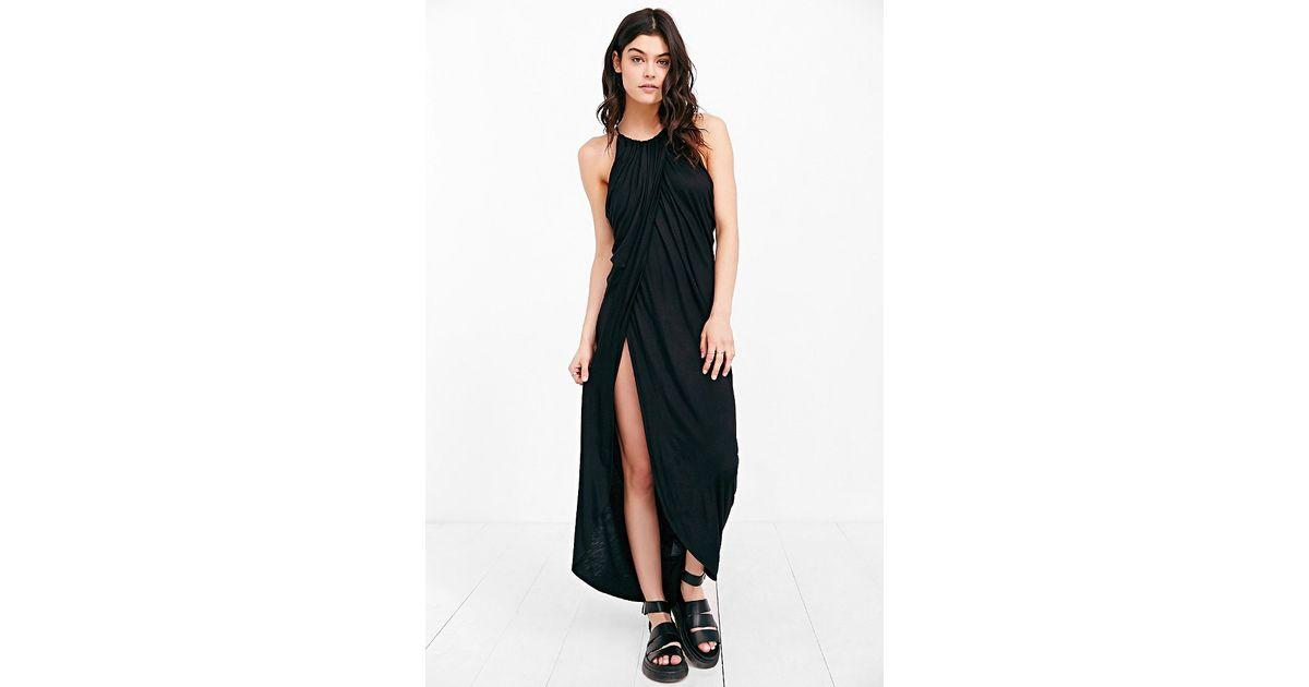 Lyst Silence Noise Grecian Draped Maxi Dress In Black