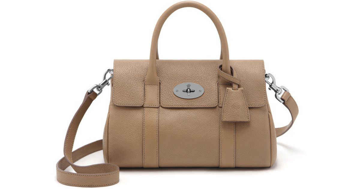 Lyst - Mulberry Small Bayswater Satchel in Natural 9944da03be