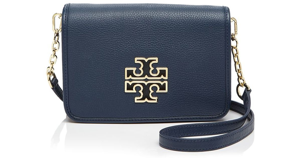 f827beafa26 Lyst - Tory Burch Britten Combo Crossbody in Blue