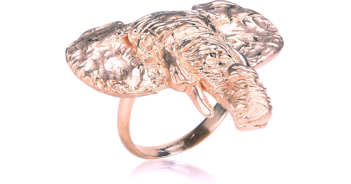 Lyst Dominique Lucas Elephant Ring Rose Gold in Pink