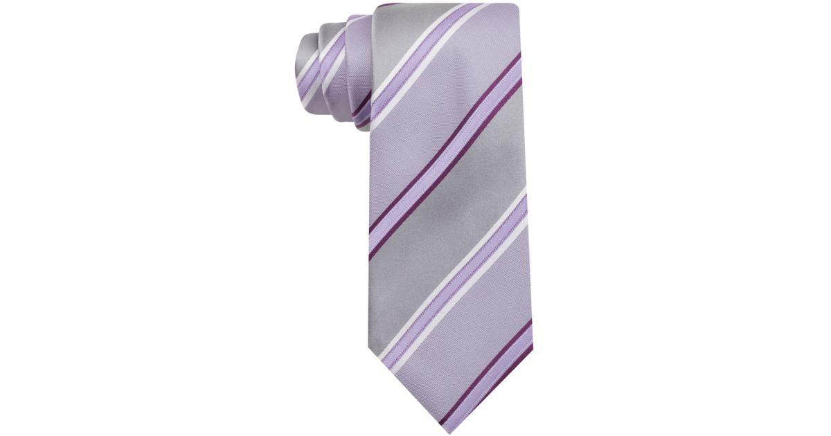 0e21e607e Lyst - Kenneth Cole Reaction Angel Stripe Slim Tie in Purple for Men