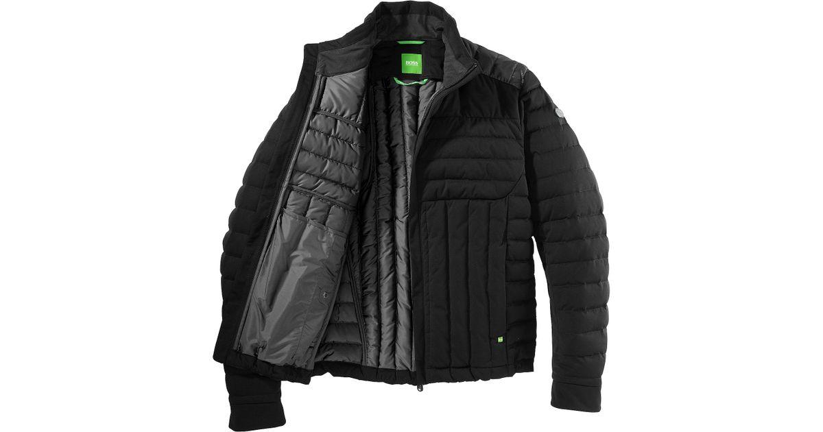 645b0e4e BOSS Green Down Jacket 'Jessino' in Black for Men - Lyst