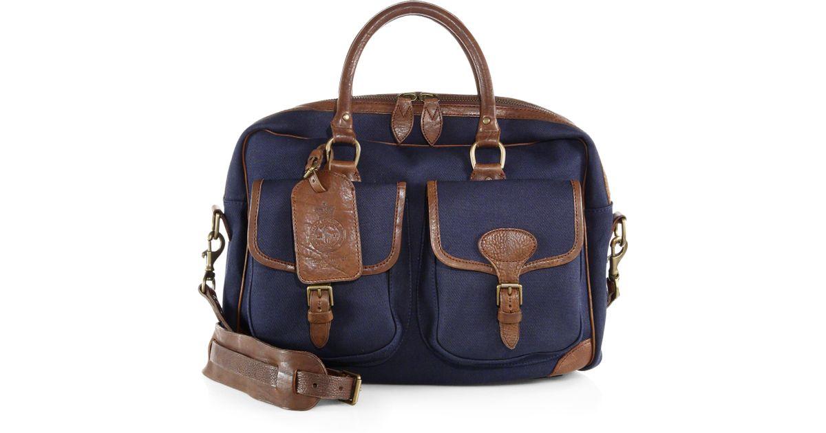 69195e916425 Lyst - Polo Ralph Lauren Twill Canvas Commuter Bag in Blue for Men