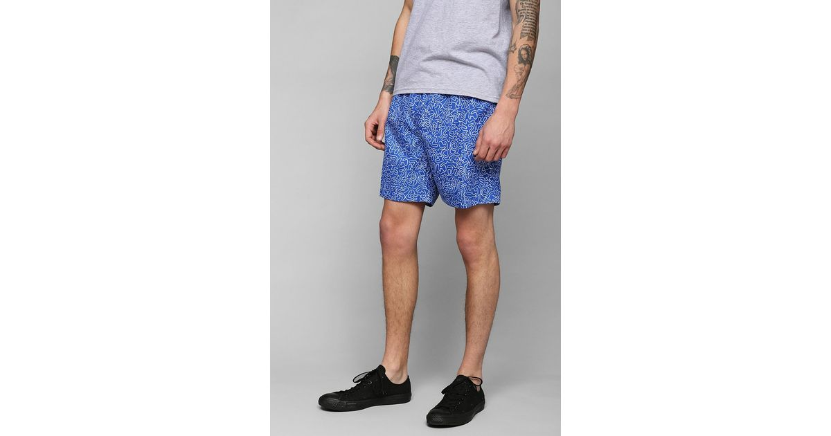 aae3b33304 Lyst - Urban Outfitters Trunks Swim Surf Co San O Short in Blue for Men