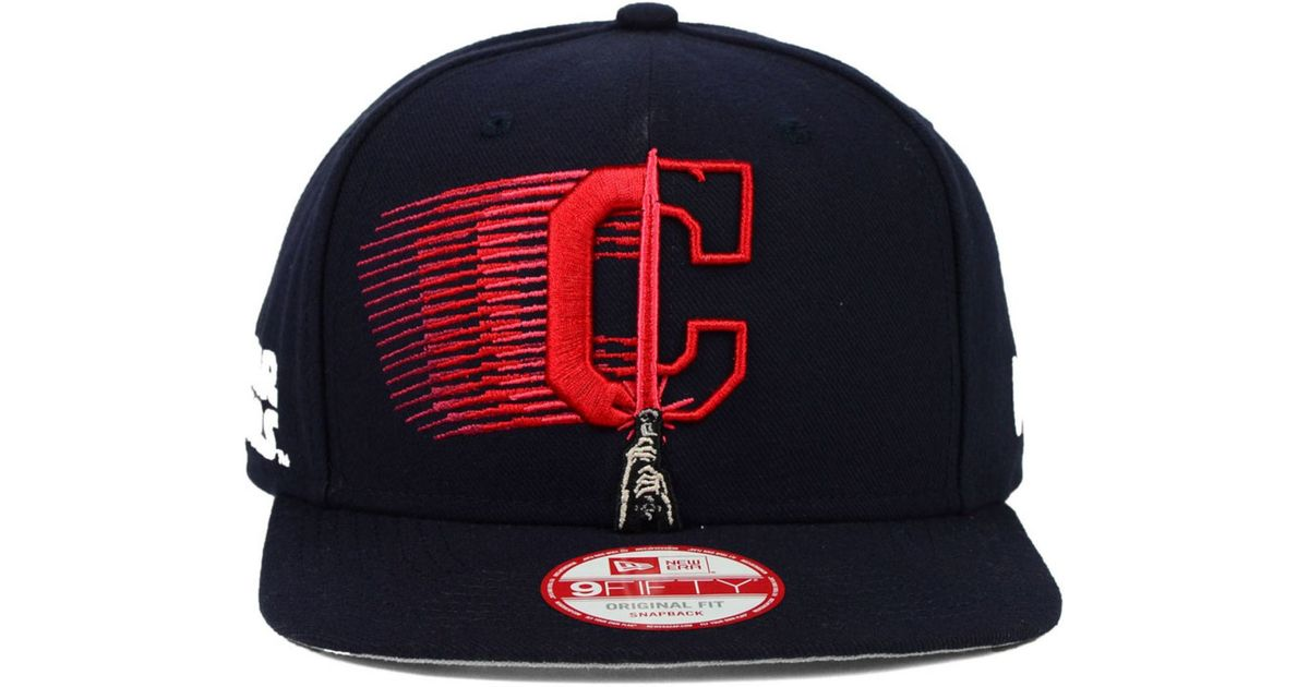 lowest price 7873c 24641 ... low price lyst ktz cleveland indians star wars logoswipe 9fifty  snapback cap in blue for men