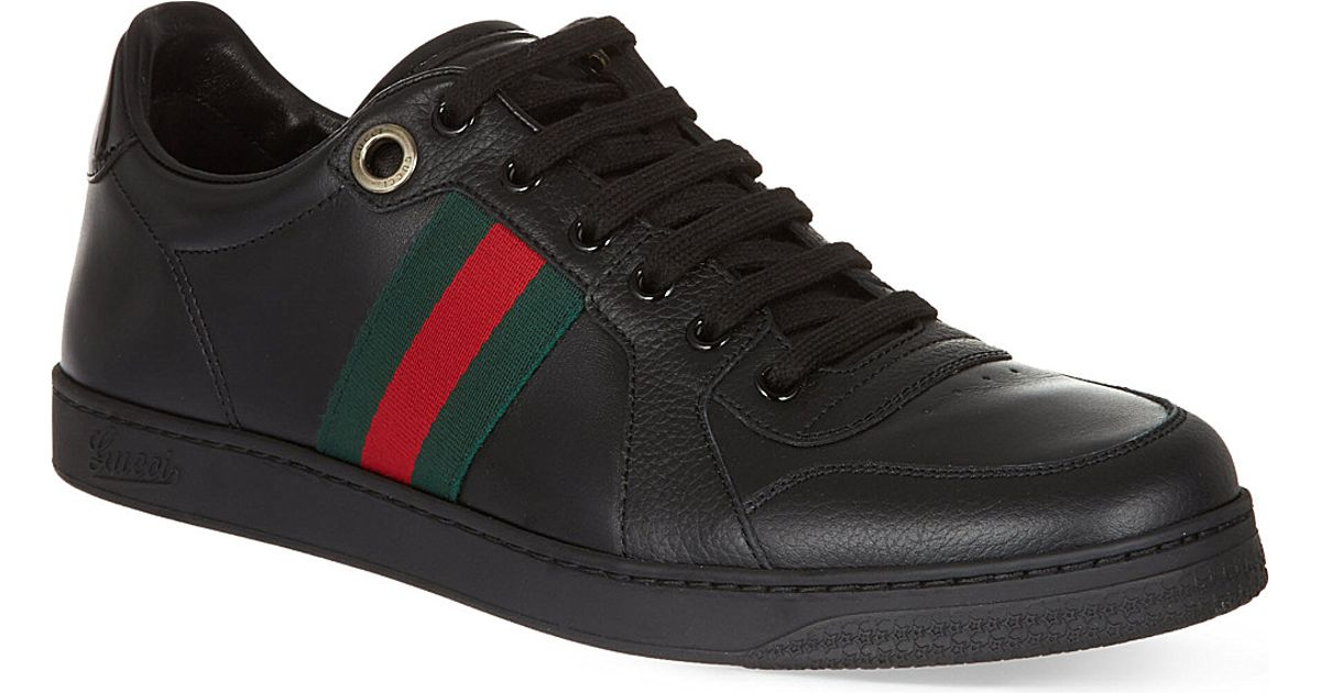 4aeeaff429f8 Lyst - Gucci Coda Webbing Low Trainers in Black for Men