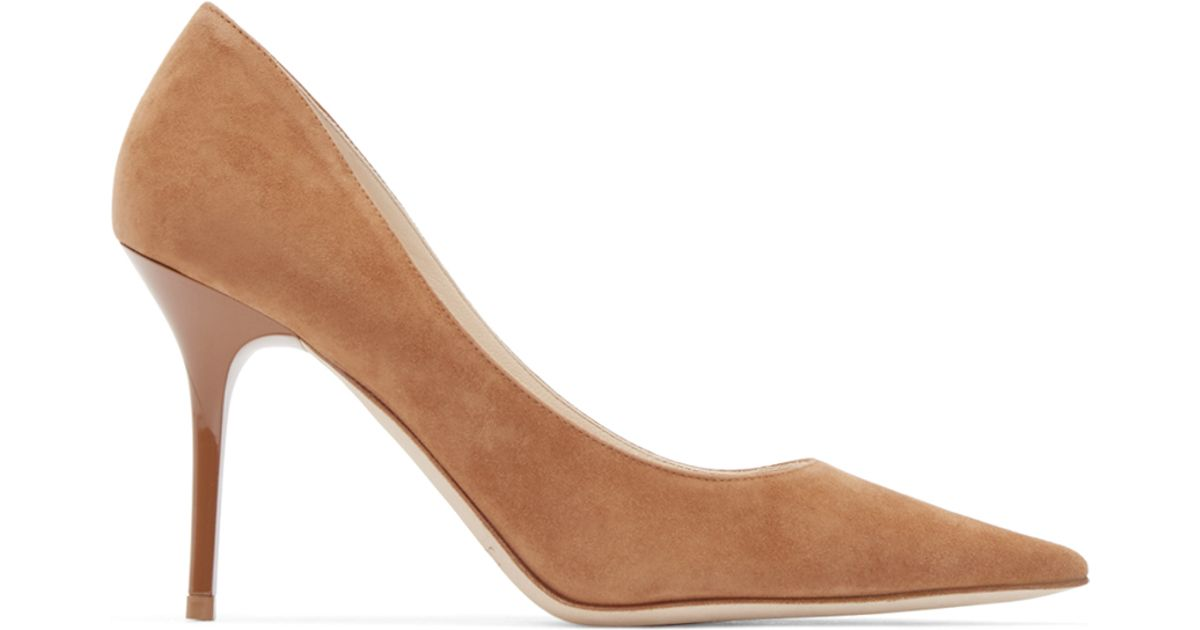 142c1c4c1 Jimmy Choo Agnes Suede Pumps in Brown - Lyst