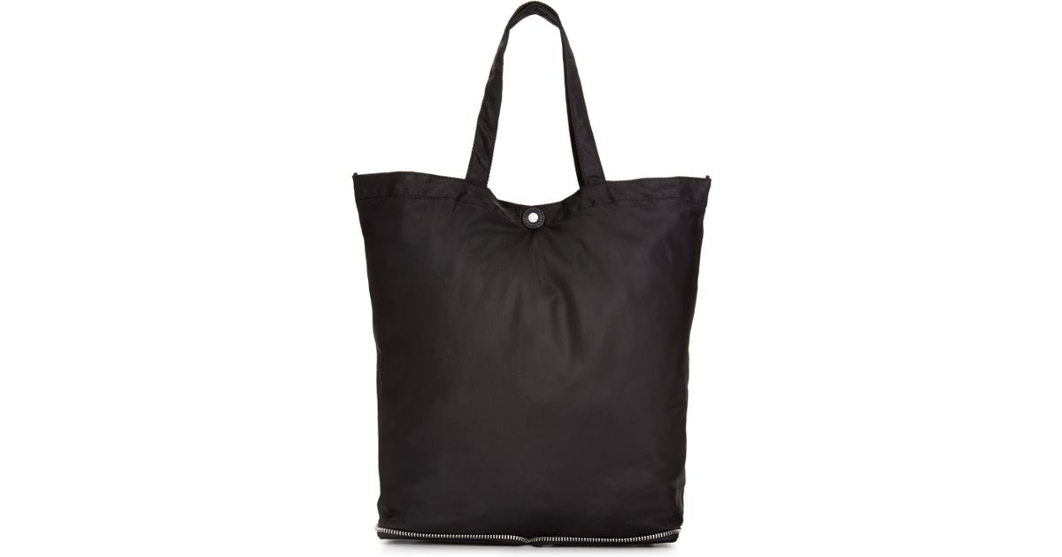 Dkny Nylon Zipper Packable Tote in Black | Lyst
