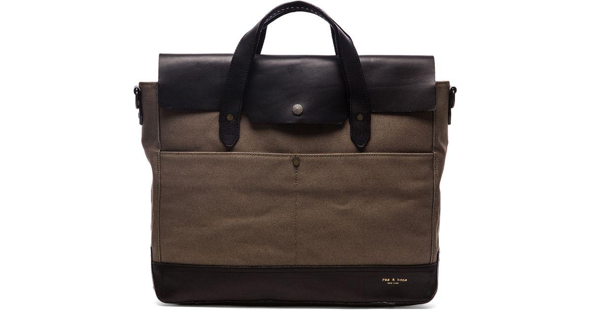 rag & bone rugged briefcase in green for men | lyst