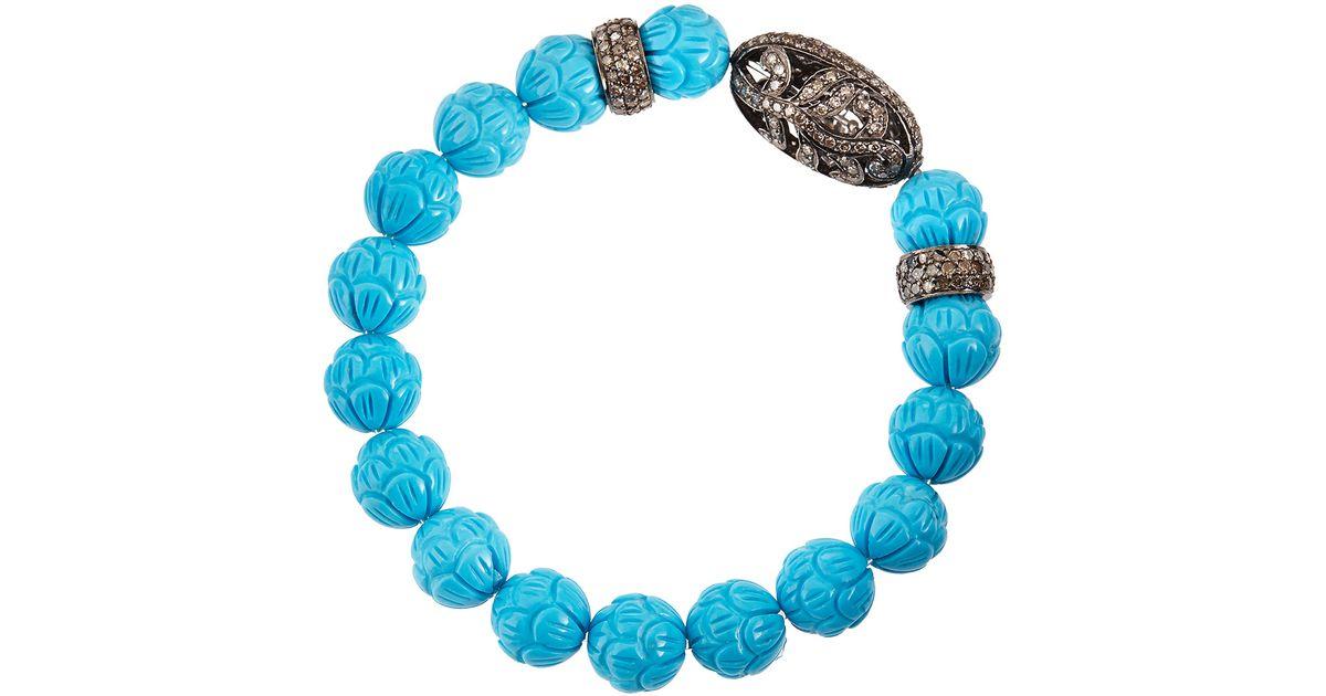 Bavna Diamond & Aquamarine Station Bracelet dLILF7uF