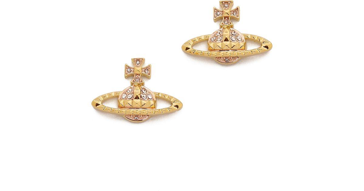 66168d85d Vivienne Westwood Mayfair Bas Relief Earrings - Light Peach in Metallic -  Lyst