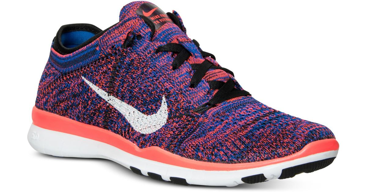low priced 83b49 9afb9 Lyst - Nike Women s Free Tr Flyknit Training Sneakers From Finish Line in  Purple