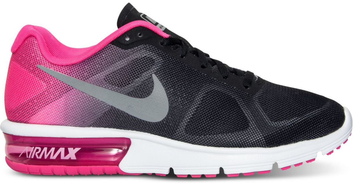 0fcacdada2921 Lyst - Nike Women s Air Max Sequent Running Sneakers From Finish Line in  Black