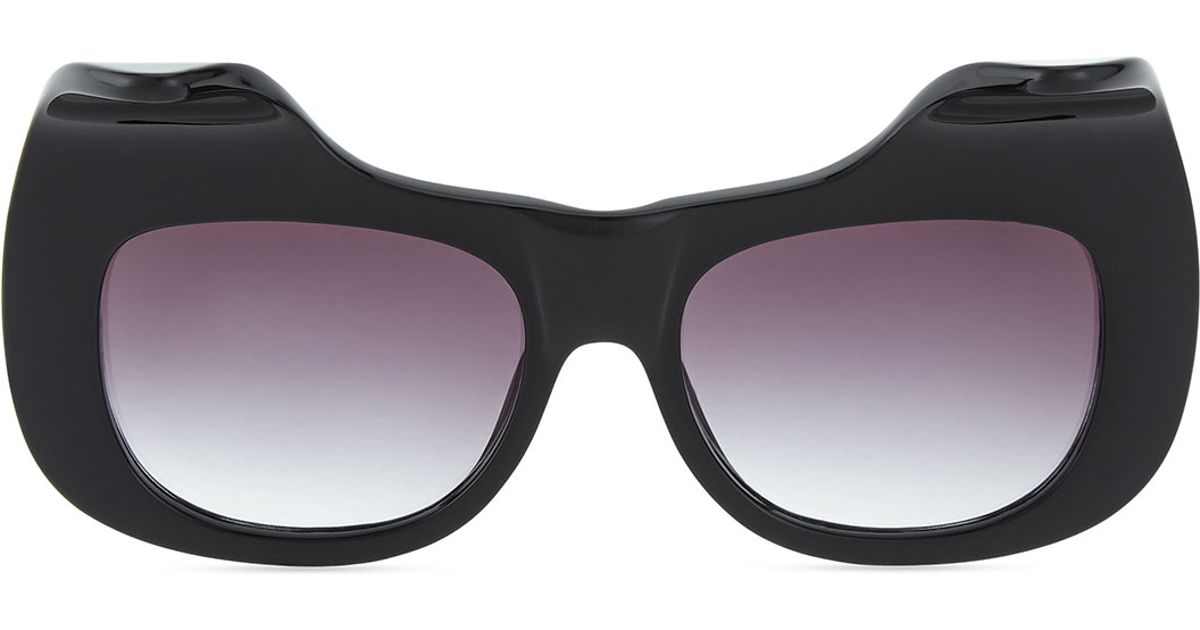 9ded332649 Lyst - Anna Karin Karlsson Exaggerated Cat Eye Sunglasses in Black