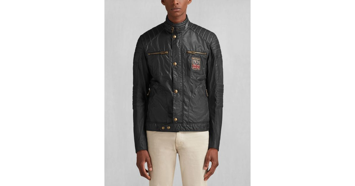 belstaff weybridge fc blouson in black for men lyst. Black Bedroom Furniture Sets. Home Design Ideas