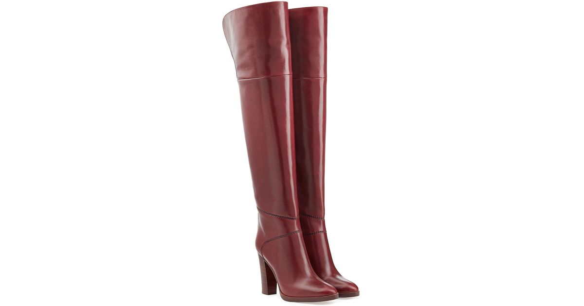 buckle over-the-knee boots - Red Chloé Quality For Sale Free Shipping Low Shipping Fee Sale Online 0VZSEc5T