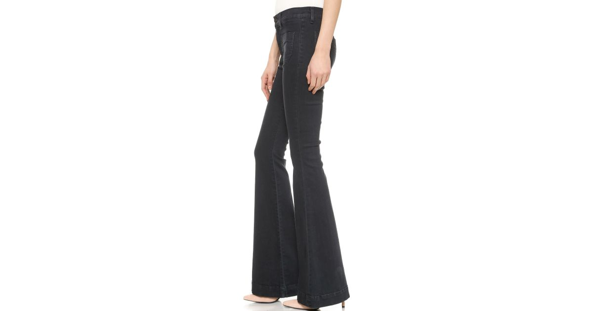 15ba8074f5d Lyst - Hudson Jeans Taylor High Waisted Flare Jeans - Rooftops in Blue