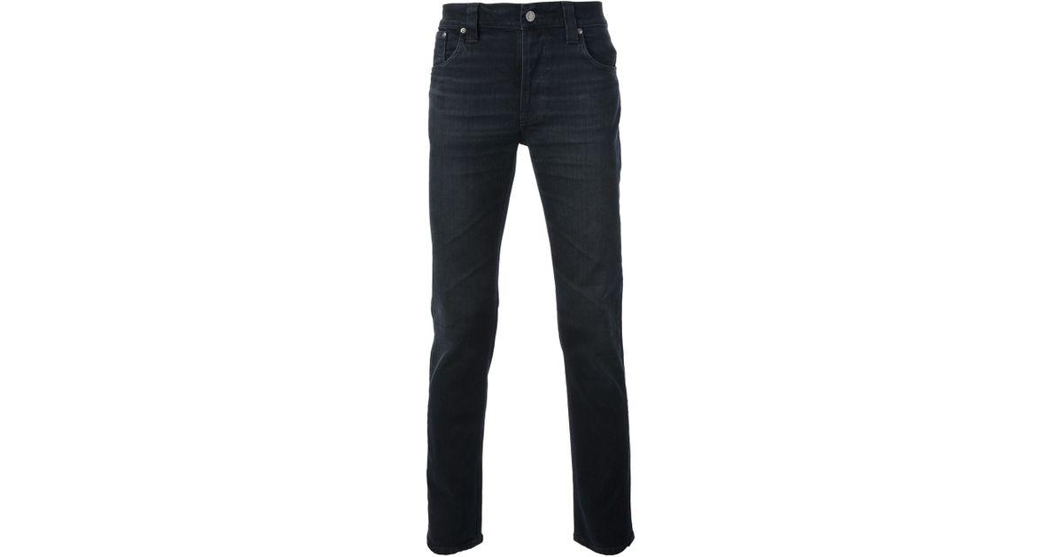 Nudie jeans Straight Leg Jeans in Black for Men