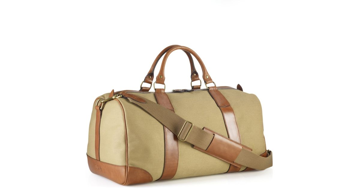 ... low price lyst polo ralph lauren core canvas gym bag in natural for men  10272 f42c6 0dd336812c338