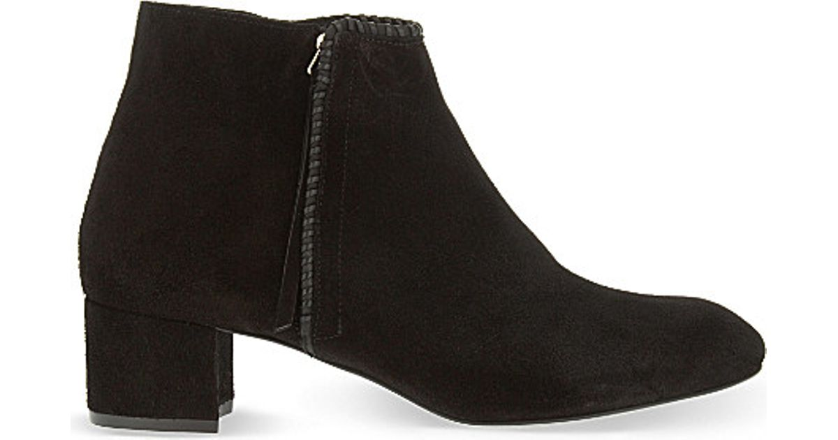 Maje Suede Ankle Boots Buy Cheap Best Place Footlocker For Sale Pre Order Sale Online To Buy y1n6Lvyt