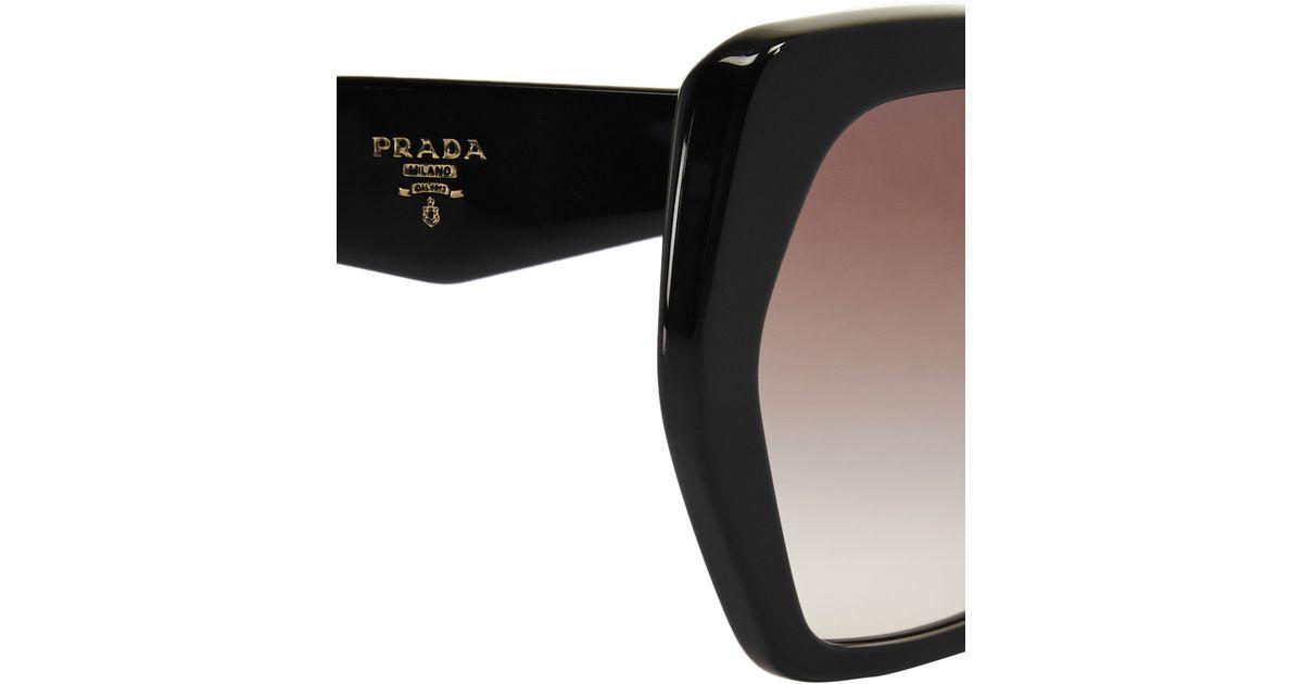 f054b75185a Lyst - Prada Square-Frame Acetate Sunglasses in Black